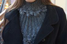 Женская манишка — бесплатные схемы вязания спицами с описанием
