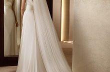 Свадебная прическа под фату для волос средней длины